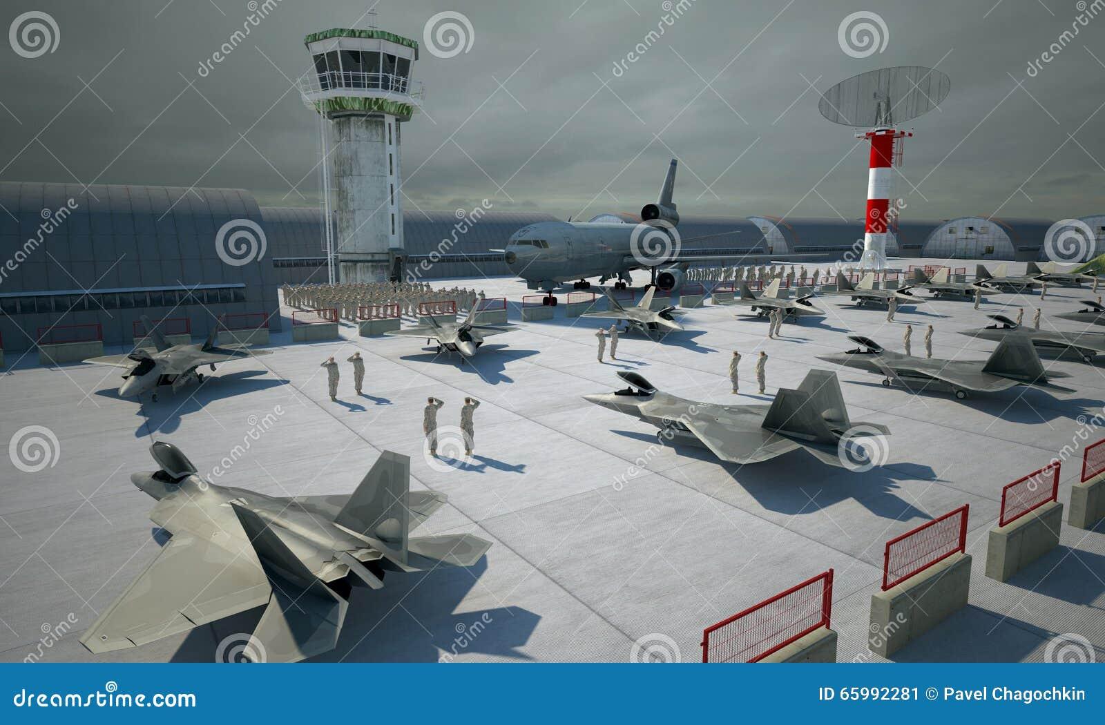 F 22 ptak drapieżny, amerykański militarny samolot szturmowy Militay baza, hangar, bunkier
