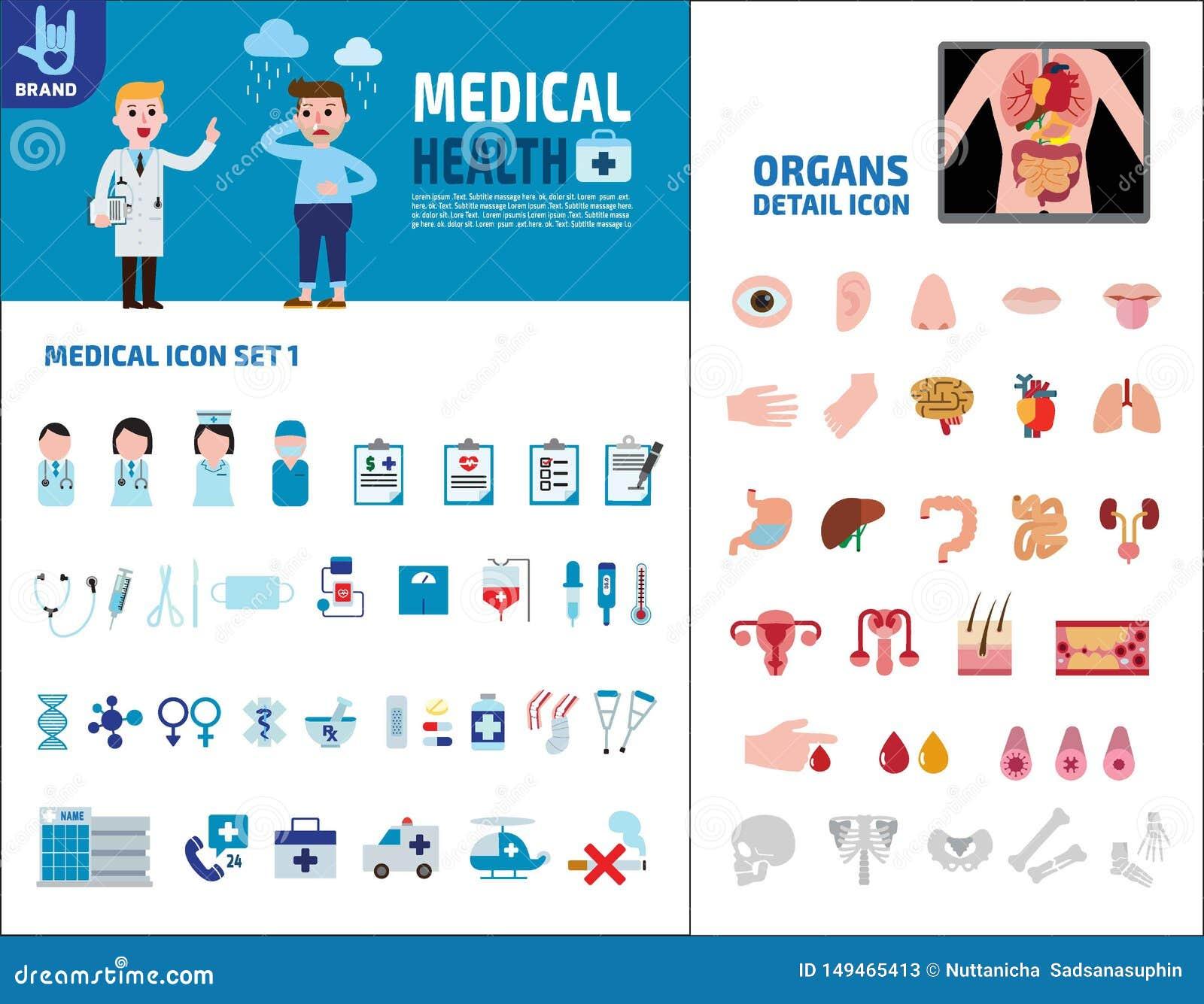F?r best?ndsdeldesign f?r v?rd- medicinsk vektor infographic illustration