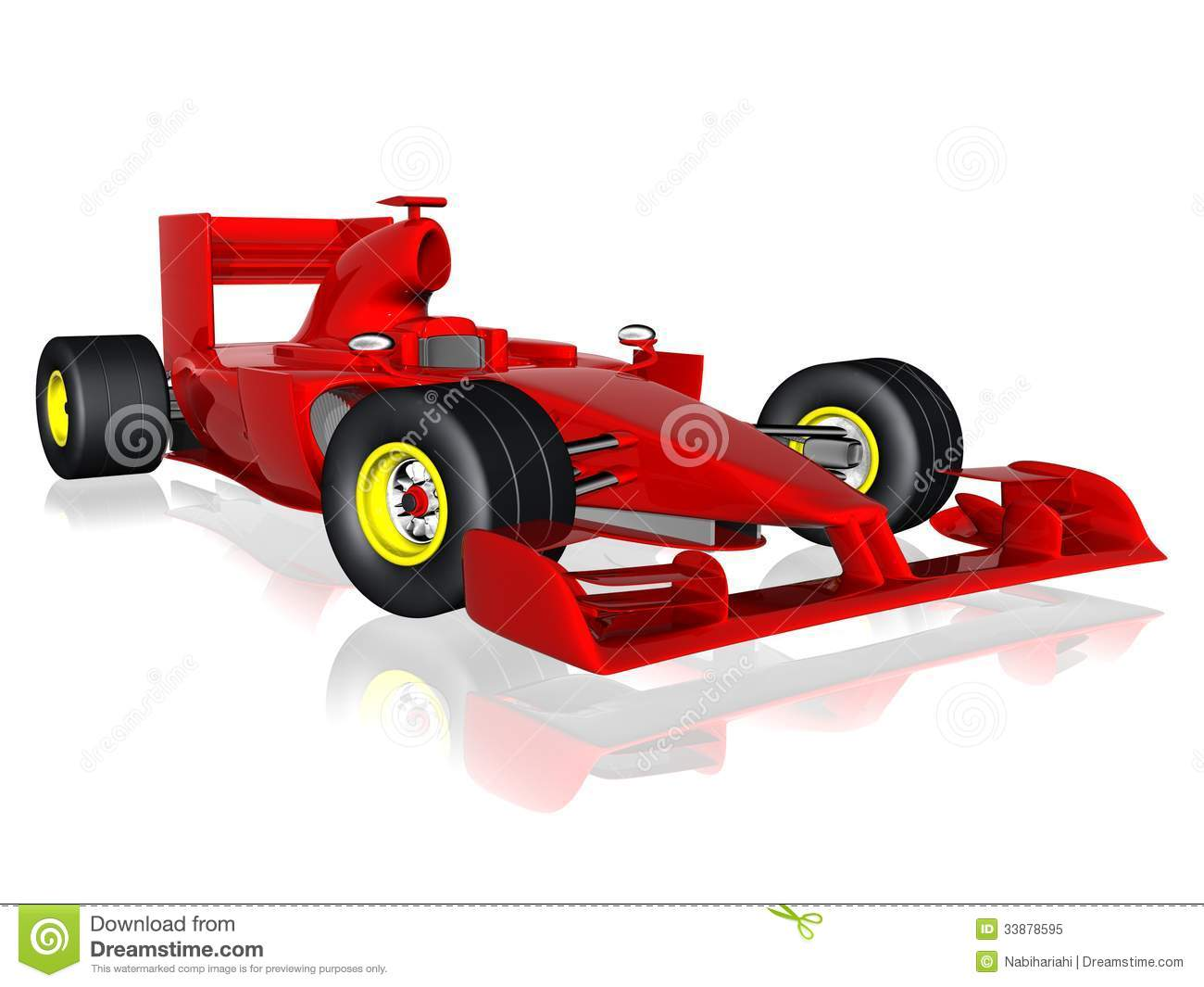 F1 Race Car Stock Illustration Illustration Of Design 33878595