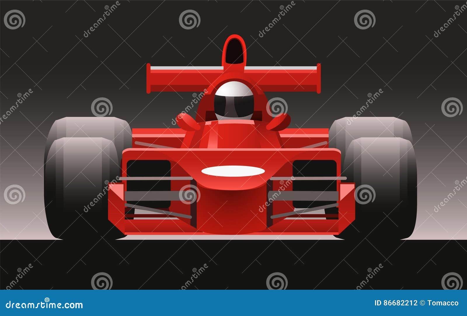 F1 Race Car Front Illustration Stock Illustration Illustration Of Sport Power 86682212