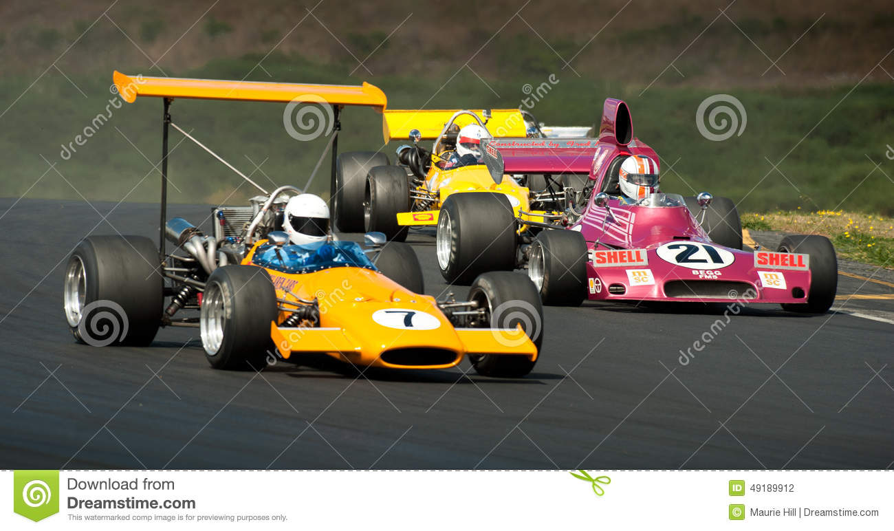 F5000 Racing Action Editorial Photography Image 49189912
