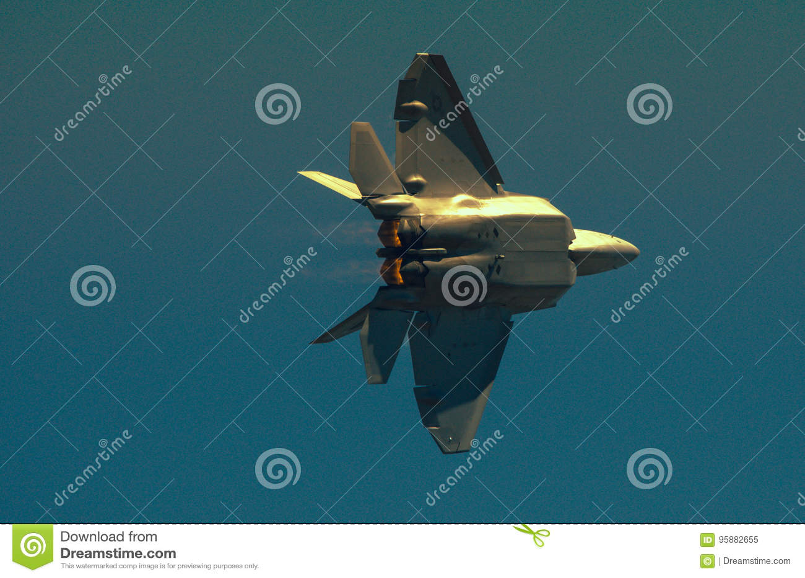F22 Raptor stock image  Image of inmotion, fighter, captured