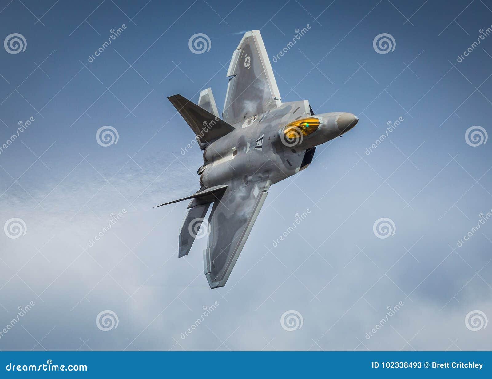 F22 Raptor fighter jet aircraft