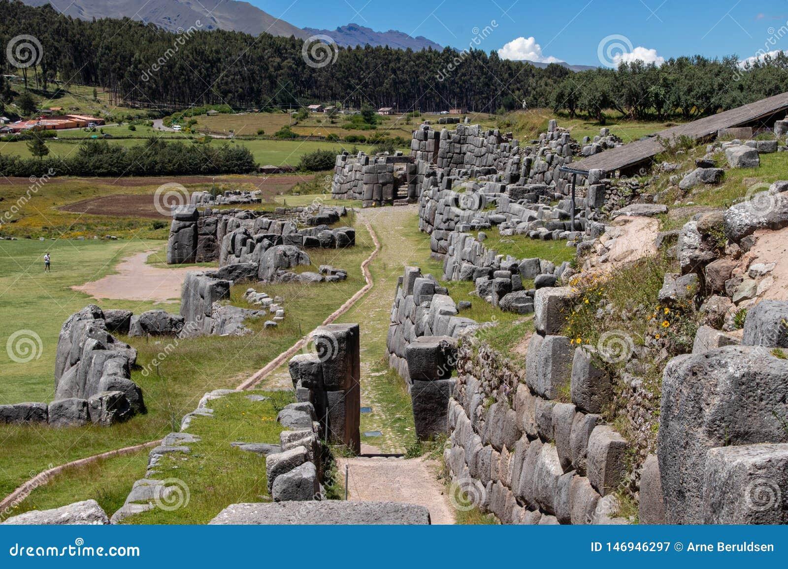 F?rd?rvar av Inca Complex Known som Sacsayhuaman
