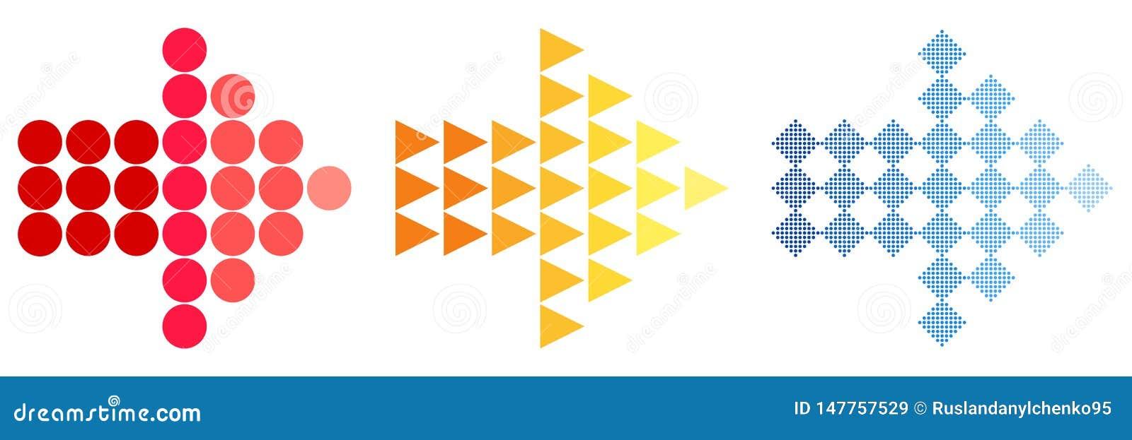 F?rgrika pilsymboler Ett enkelt tecken av färgen av en rengöringsduksymbol på en vit bakgrund Den moderna fasta slätten är en mon