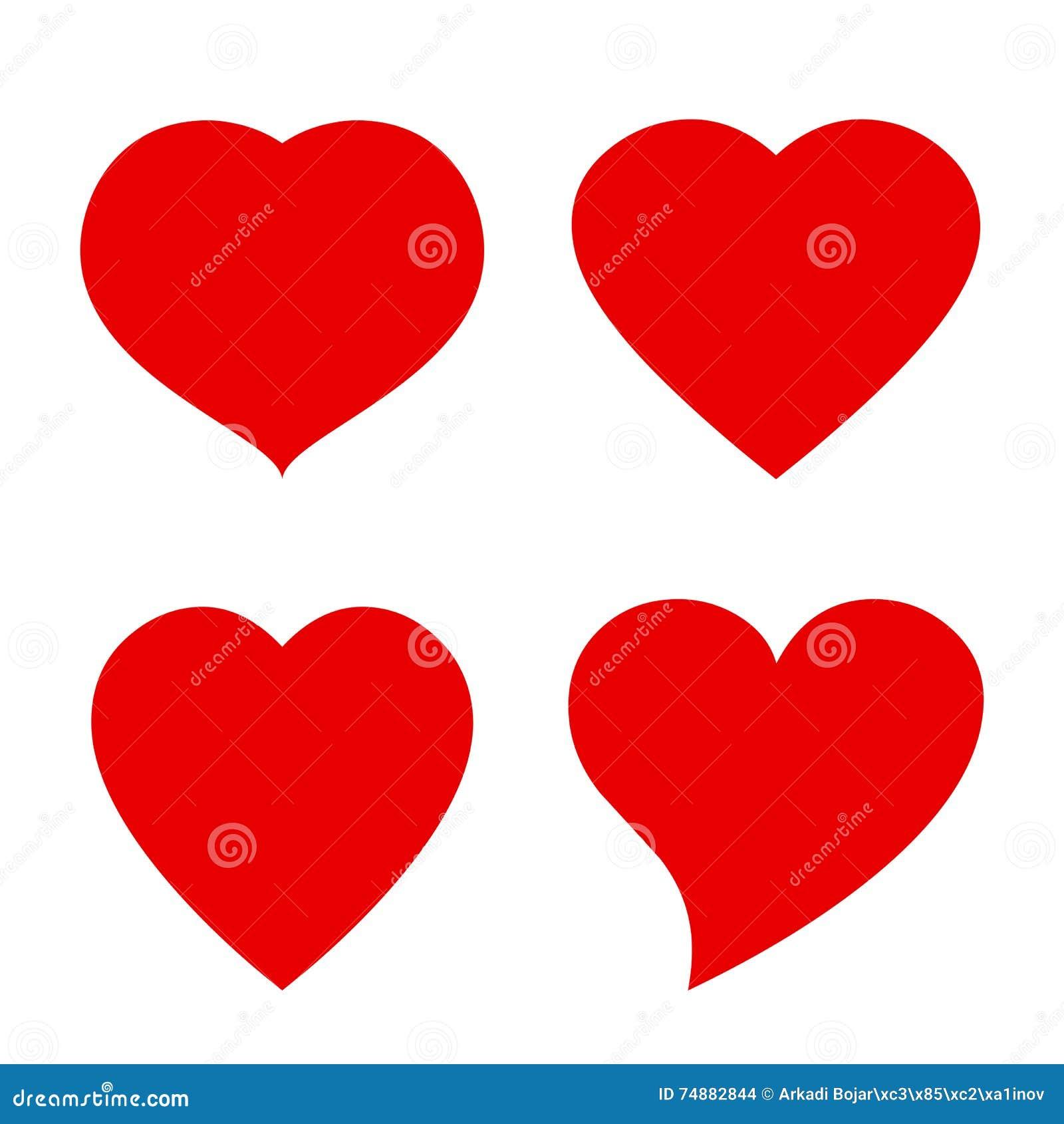 Fôrma do coração do vetor