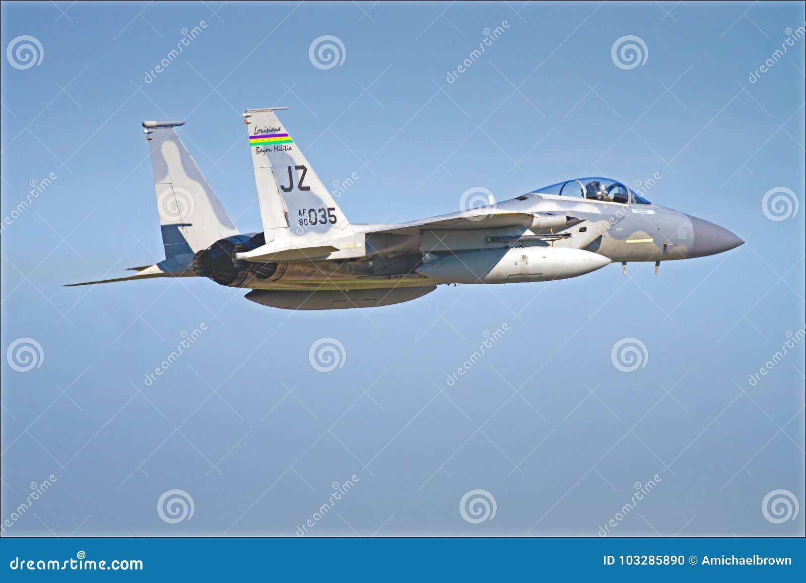 F15 USA lotnictwa gwardii narodowej strumień