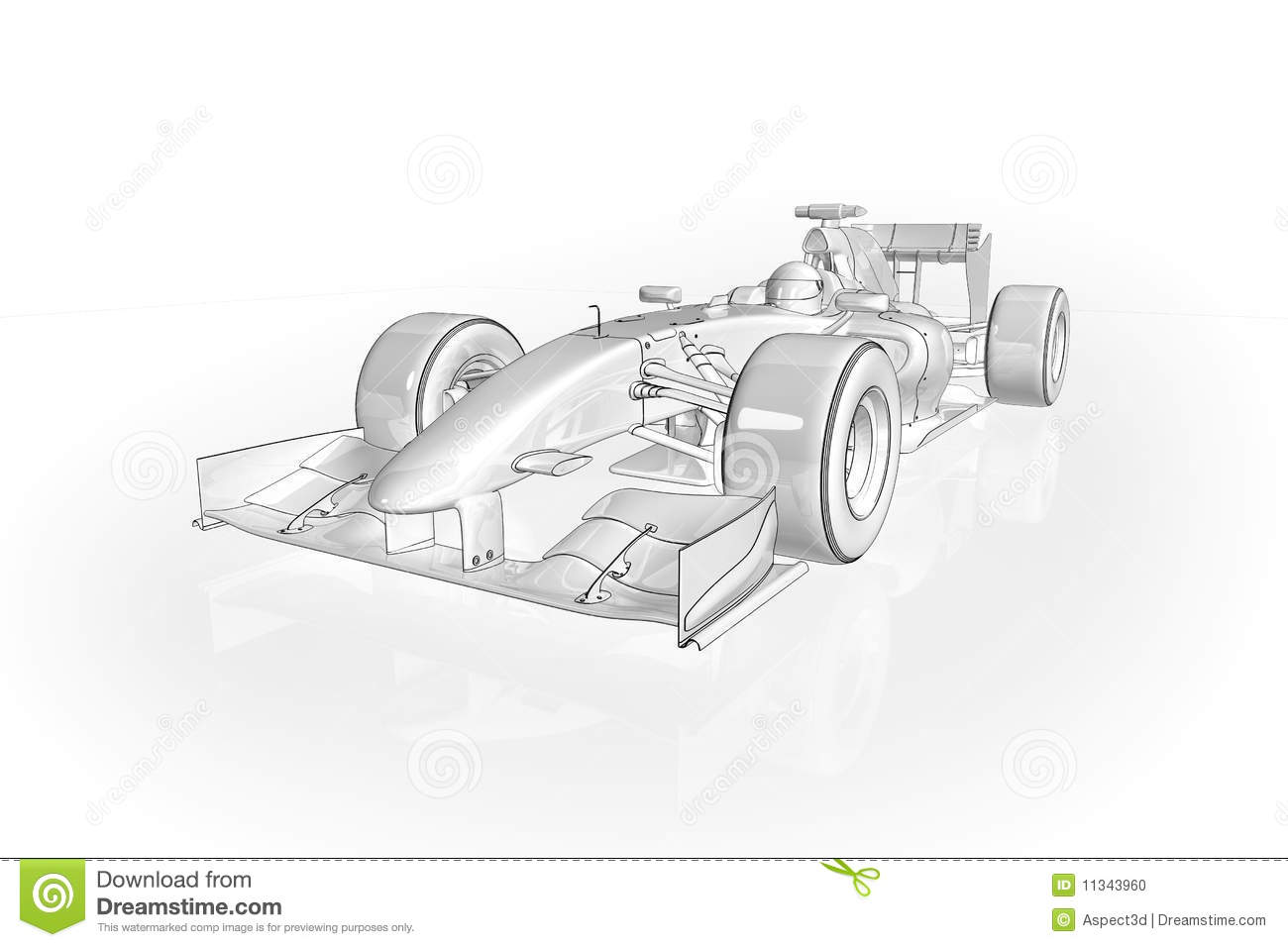 F1 Car Stock Photo Image 11343960