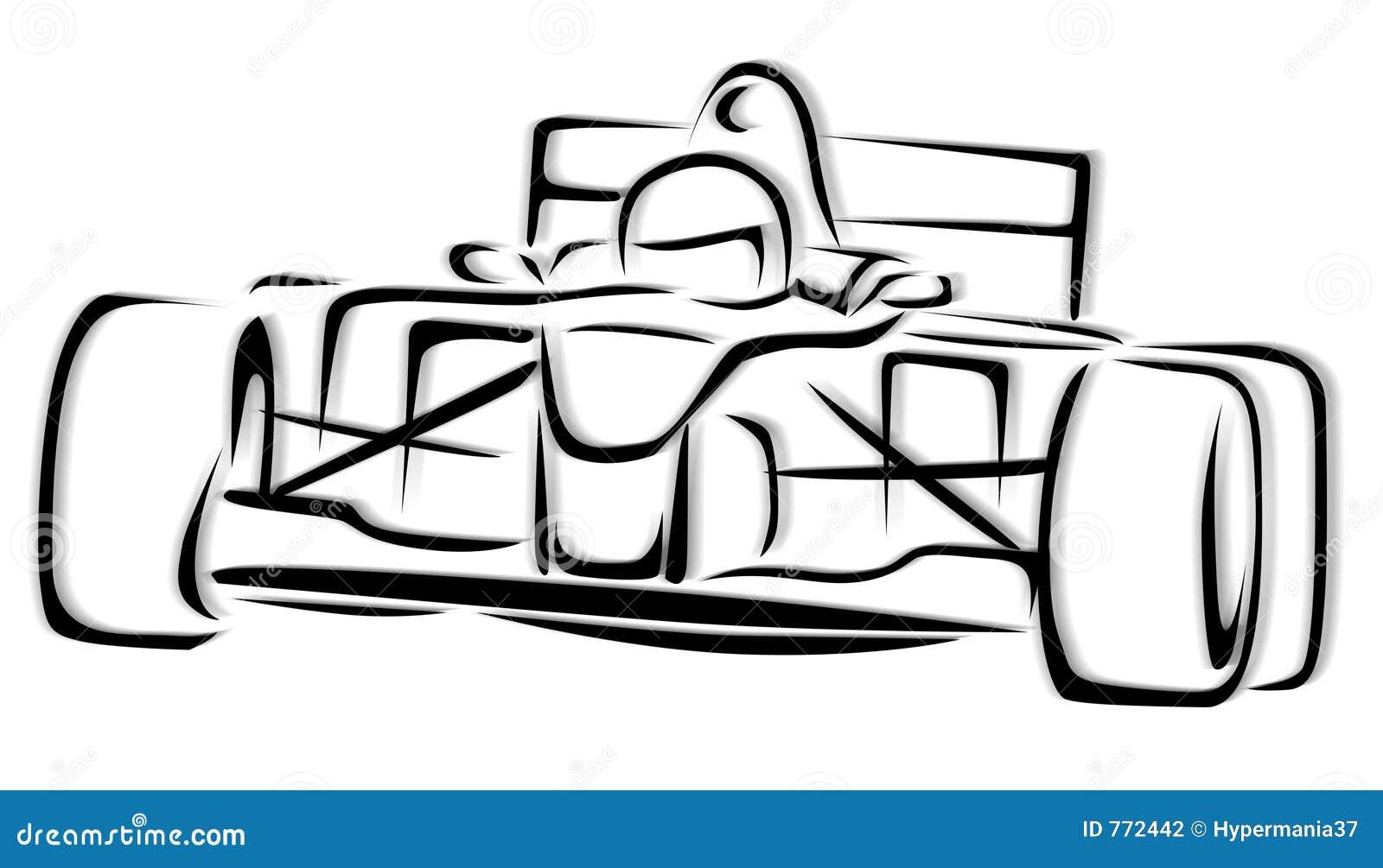 F1 De Illustratie Van De Raceauto Stock Illustratie