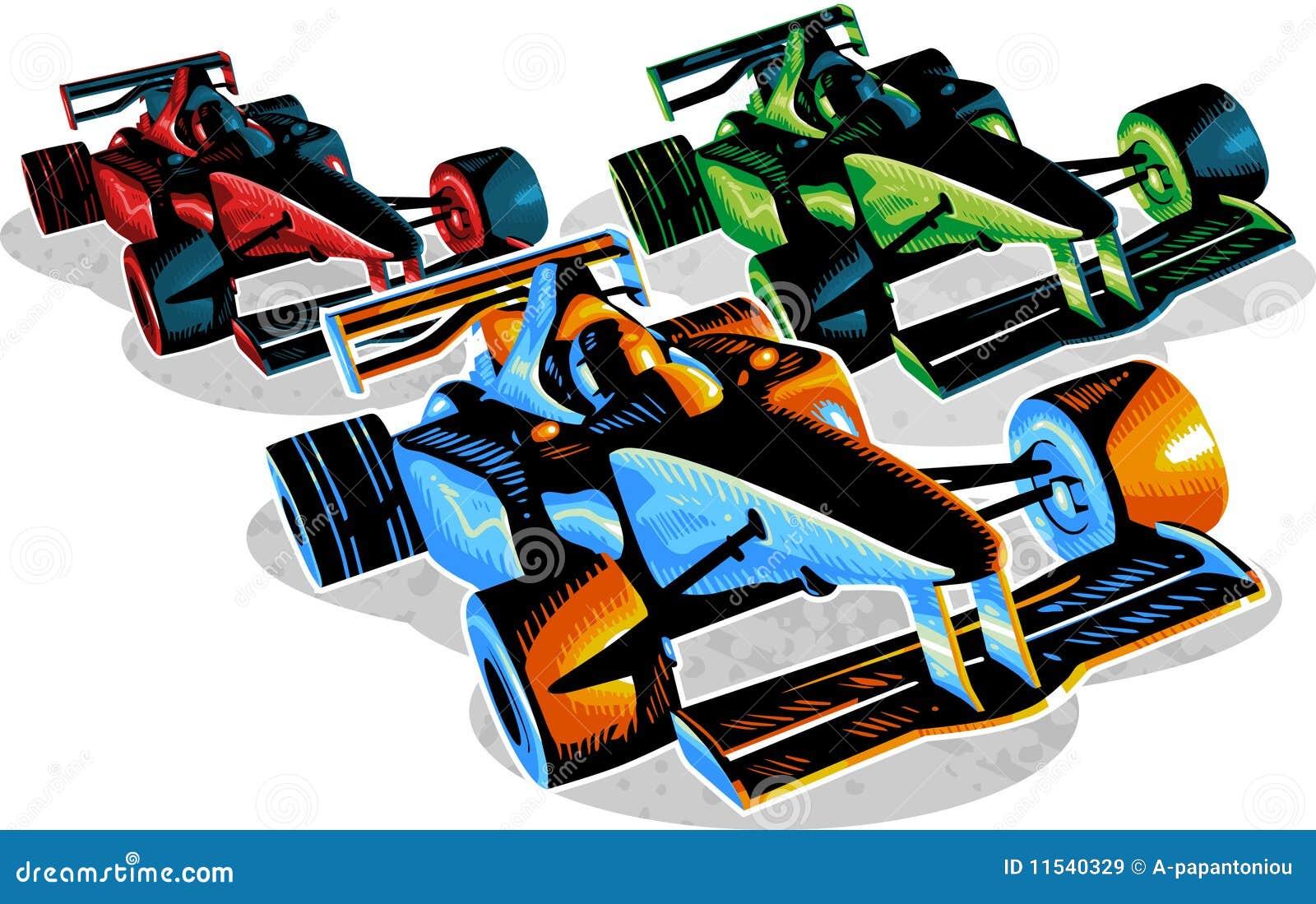 F1 Het Rennen Royalty-vrije Stock Afbeeldingen - Afbeelding: 11540329