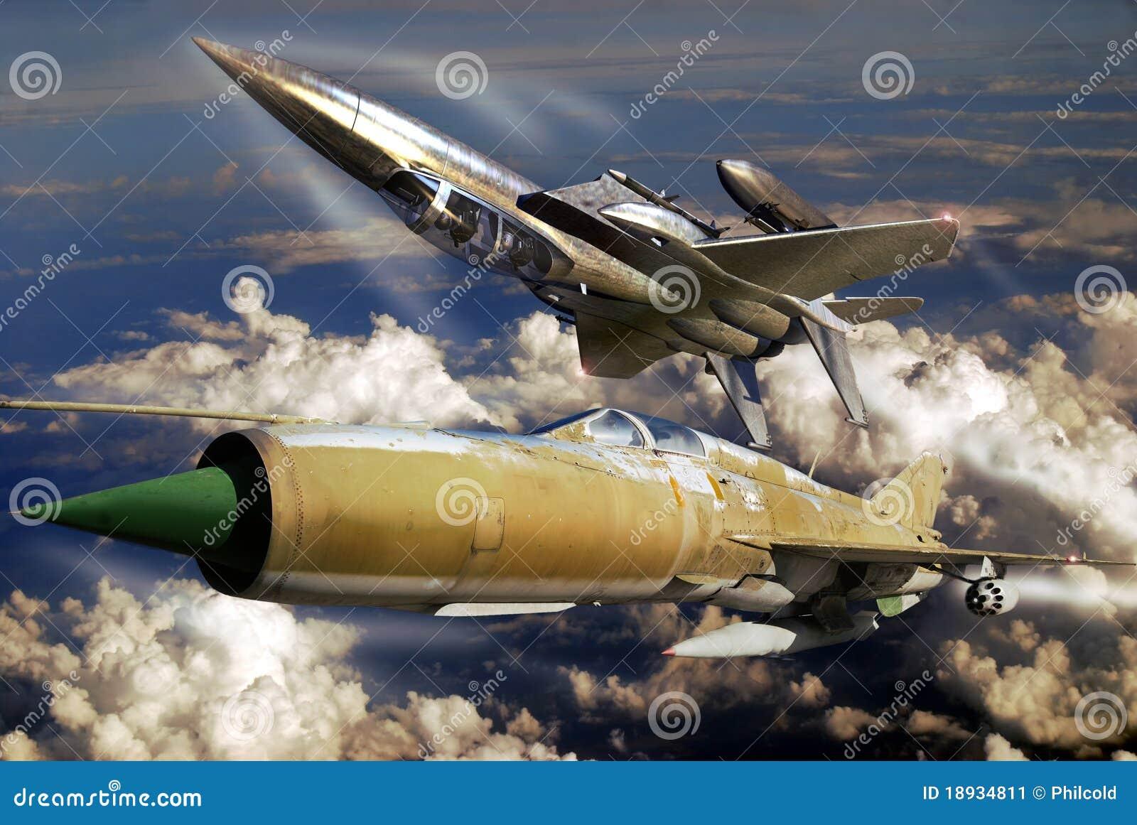 F15 contre MIG 21