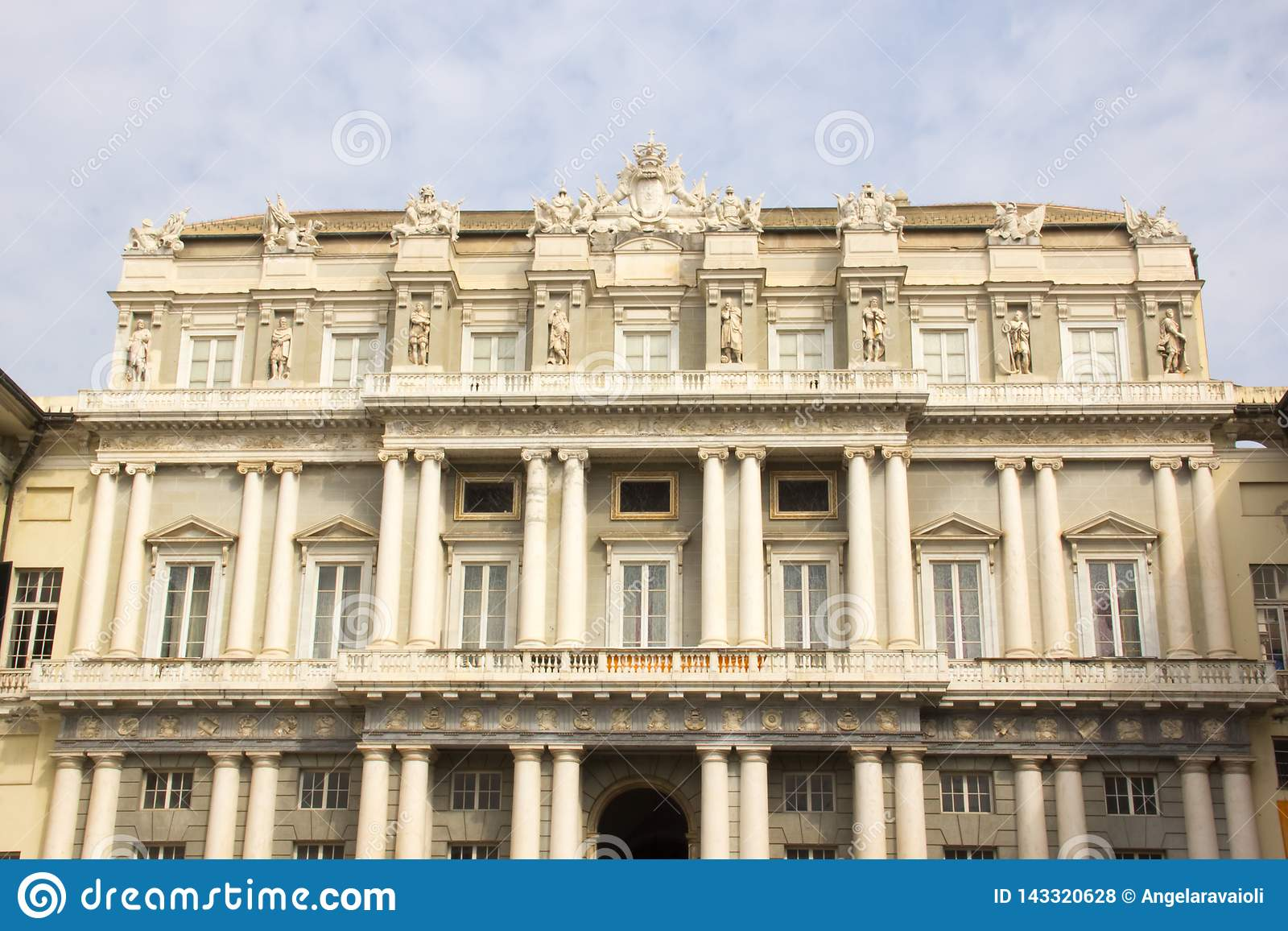 Façade del Palazzo Ducale a Genova