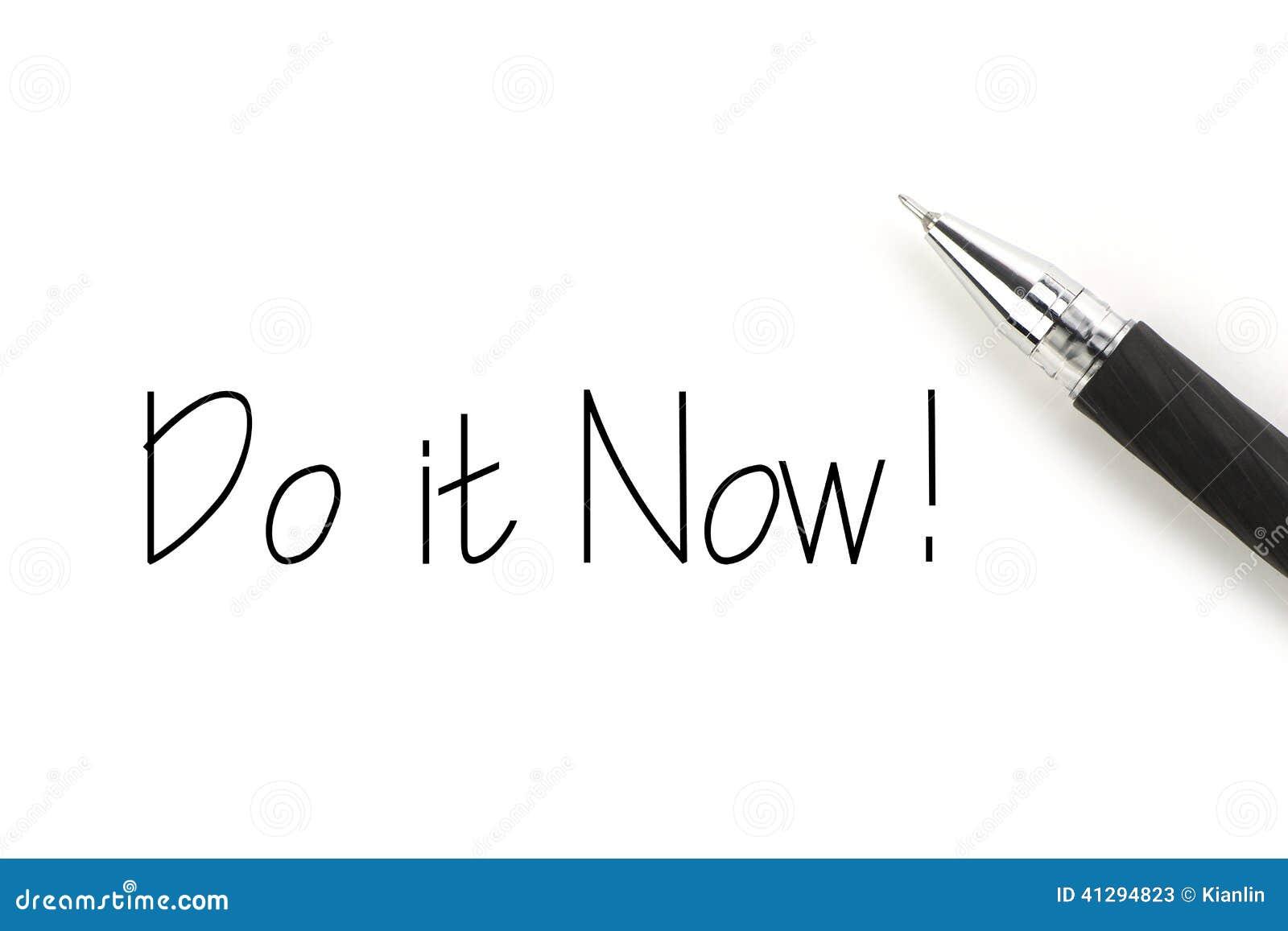 Faça-o agora!