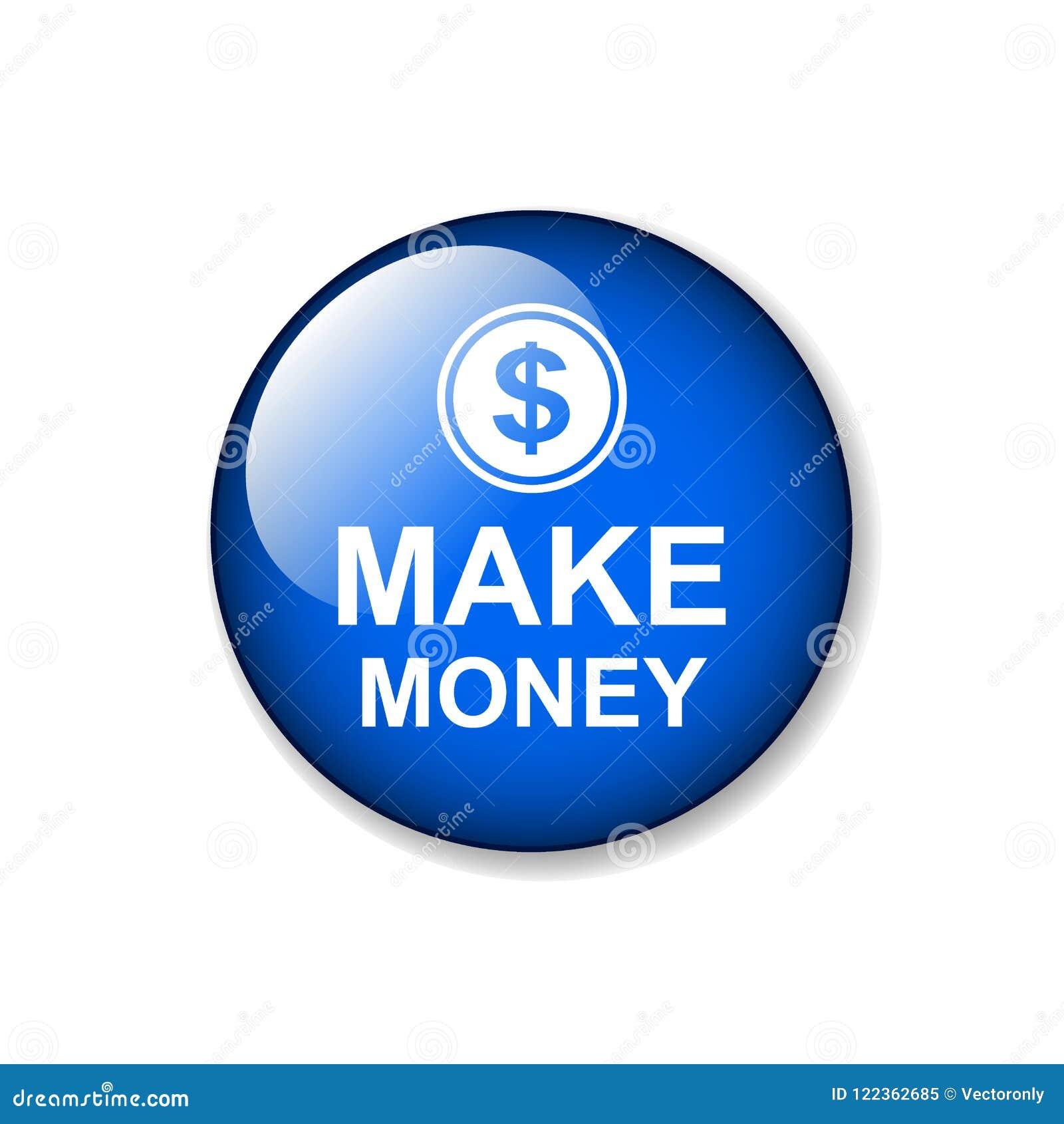Faça o botão da Web do dinheiro