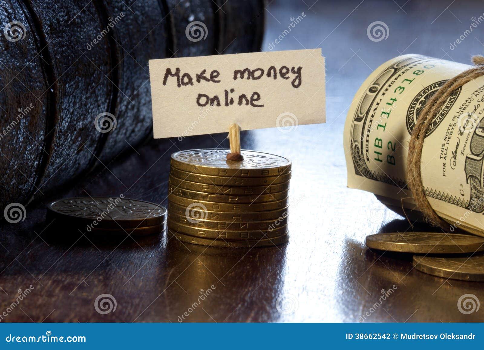 Faça o dinheiro em linha
