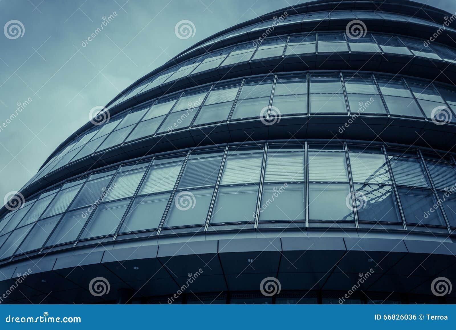 Fa ade arrondie moderne de ville h tel londres r u for Hotel de ville de londres architecture