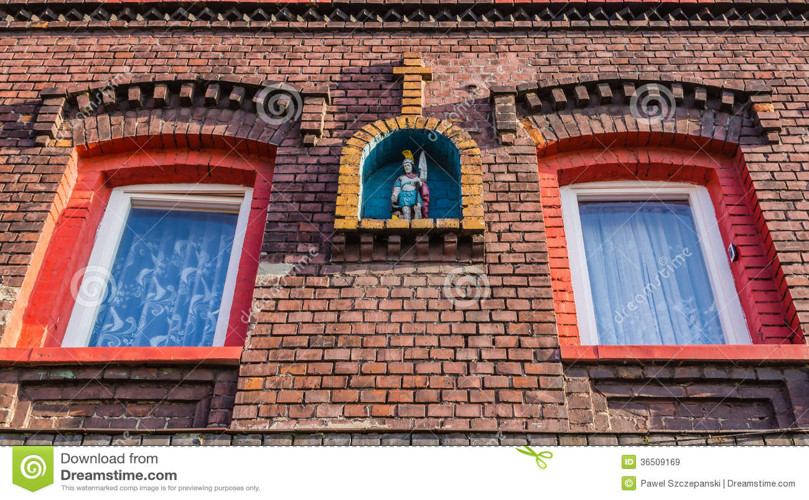 Façade d une maison silésienne typique