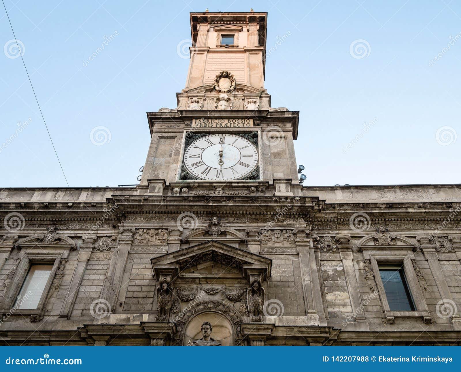 Facade De Palazzo Giureconsulti A Milan Photo Stock Editorial