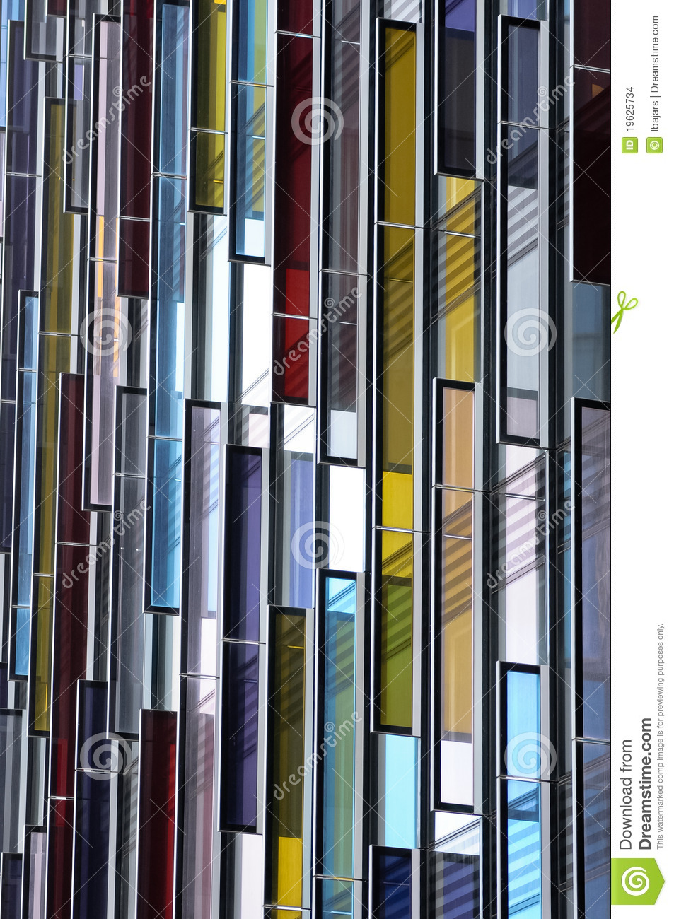 Fa ade en verre color e abr g sur architecture images for Architecture en verre