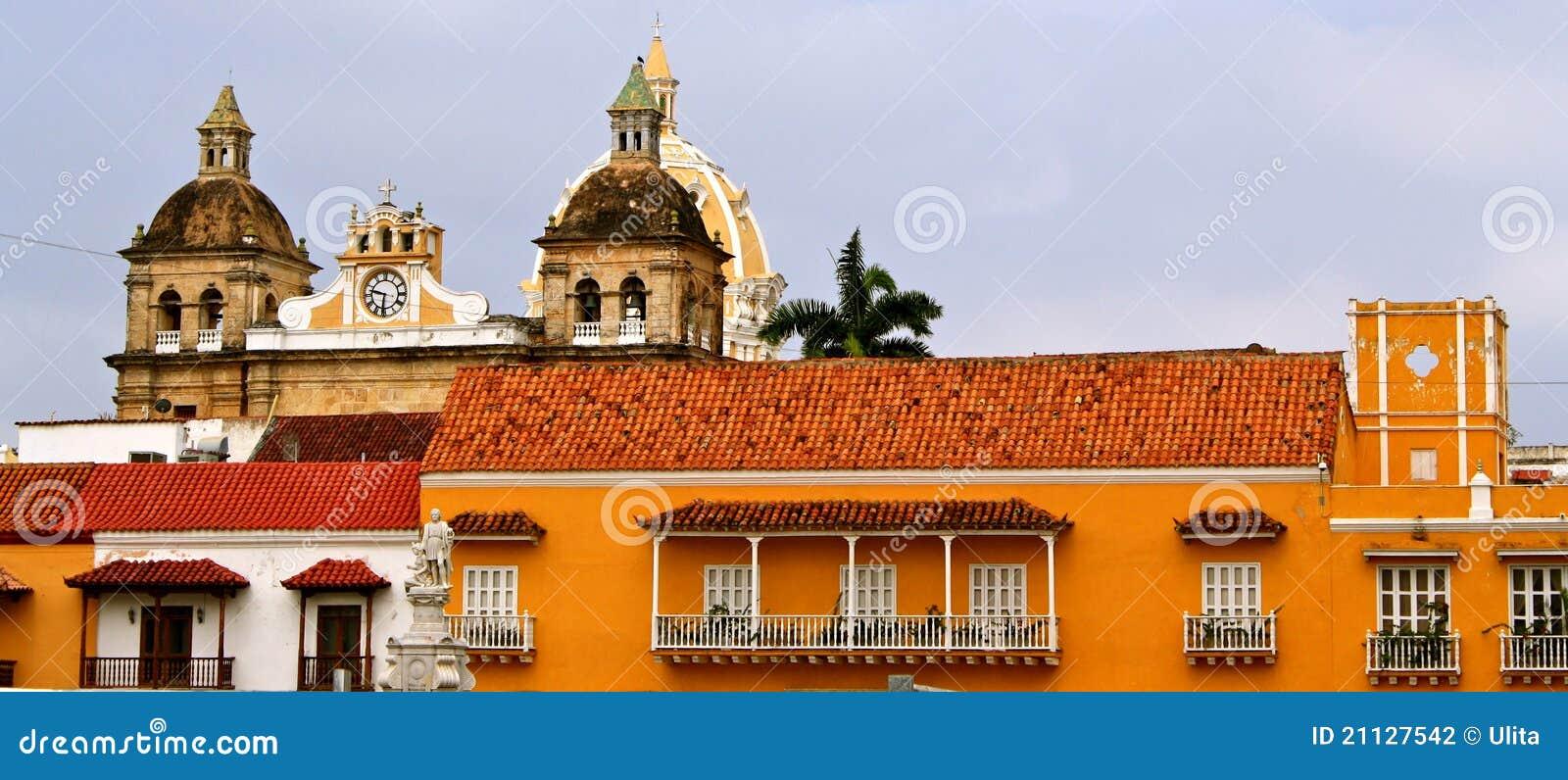 Façades de Carthagène de Indias, Colombie