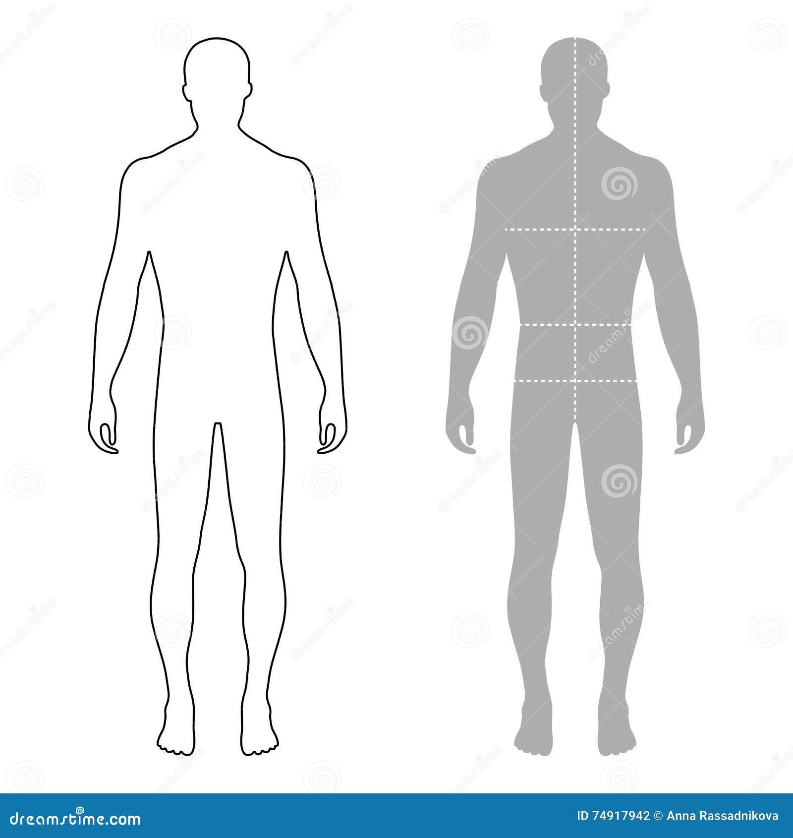 Fa onnez le chiffre d crit par homme silhouette de calibre avec le corps marq - Figure libre architecture ...
