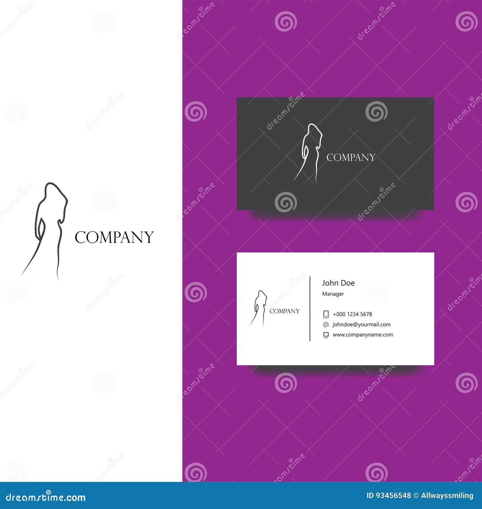 Conception De Logo Du Vecteur ENV Pour La Revue Mode Ou Socit Boutique Calibre Carte Visite Professionnelle Dicne