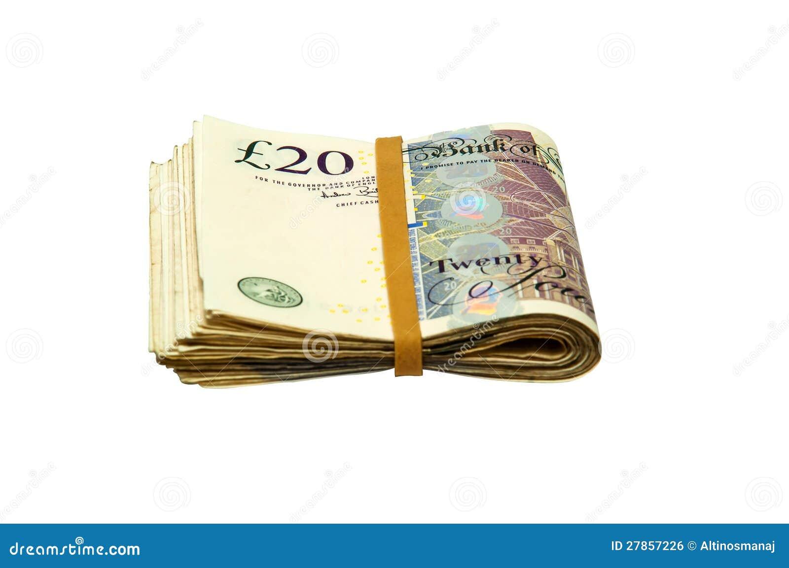Fałdowa Gotówka - 20 funtowych notatek