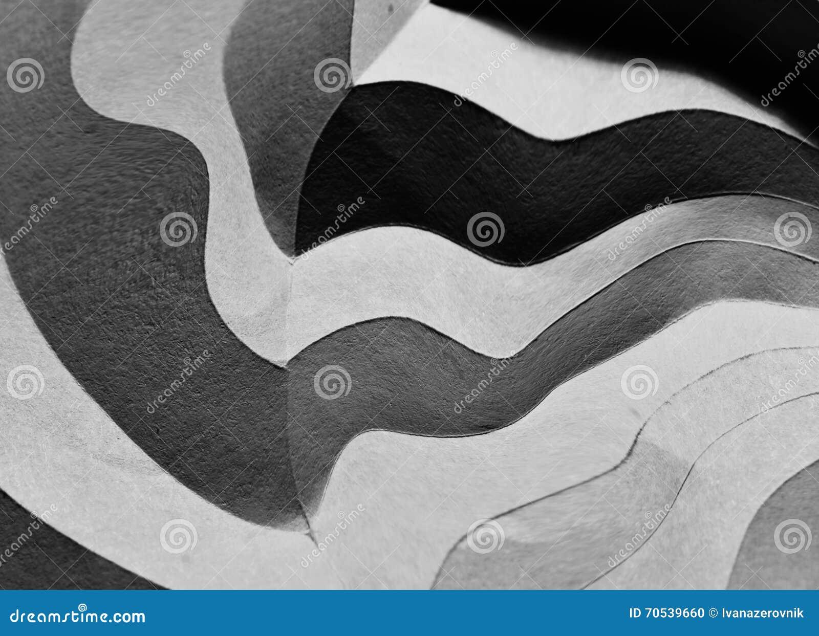Fałdowy papierowy abstrakt