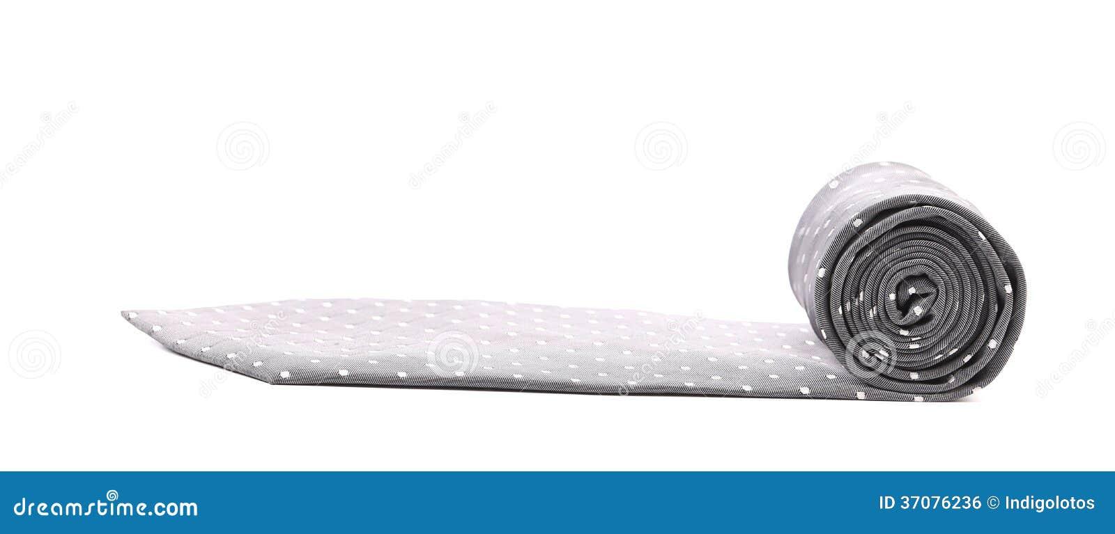 Download Fałdowy Szarość Krawat Z Białą Drobiną. Zdjęcie Stock - Obraz złożonej z nieużywany, kolorowy: 37076236