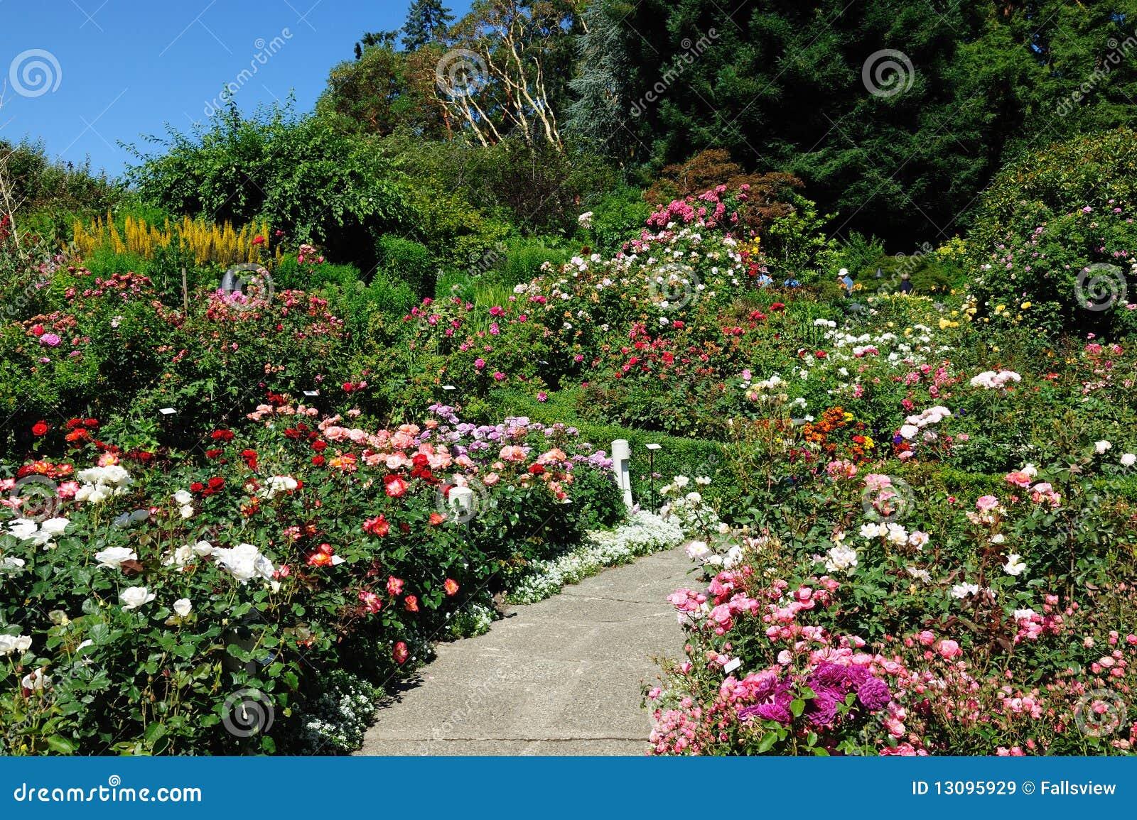 Fa il giardinaggio il percorso