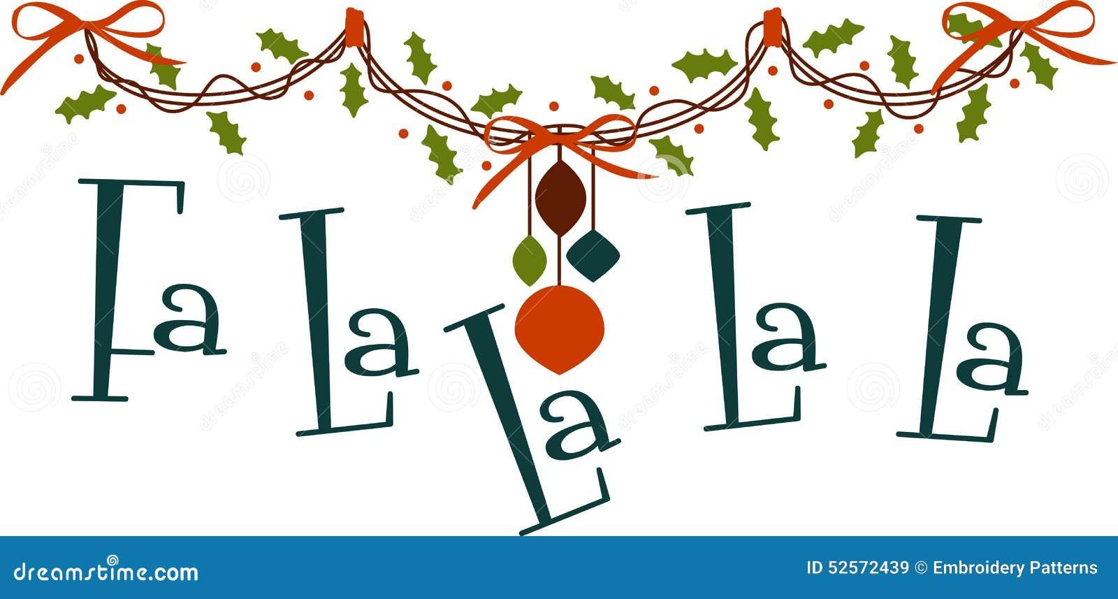 Fa La La La La stock vector. Illustration of ornament - 52572439