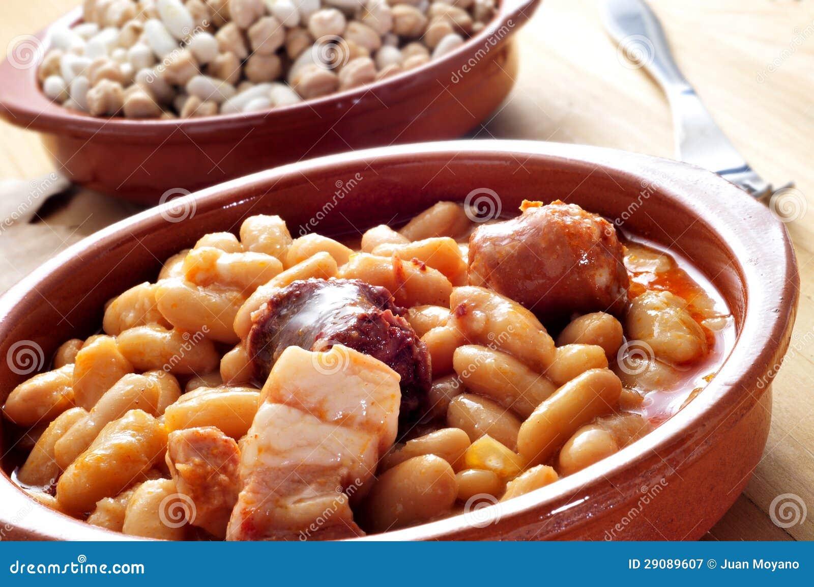 Fabada asturiana typical spanish bean stew stock image for Asturian cuisine