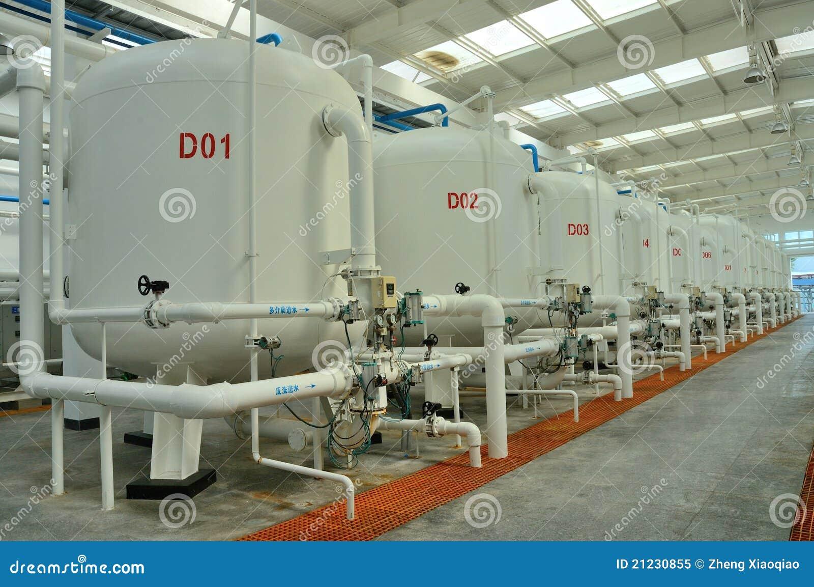 Fabbrica di purificazione di acqua