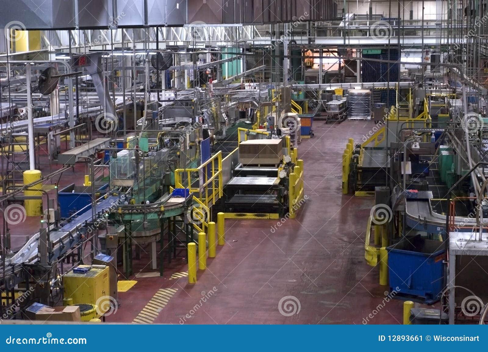 Fabbrica industriale di fabbricazione in una fabbrica