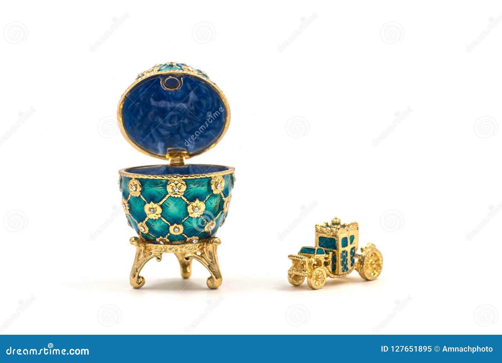 Faberge ägg Dekorativt keramiskt easter ägg för smycken