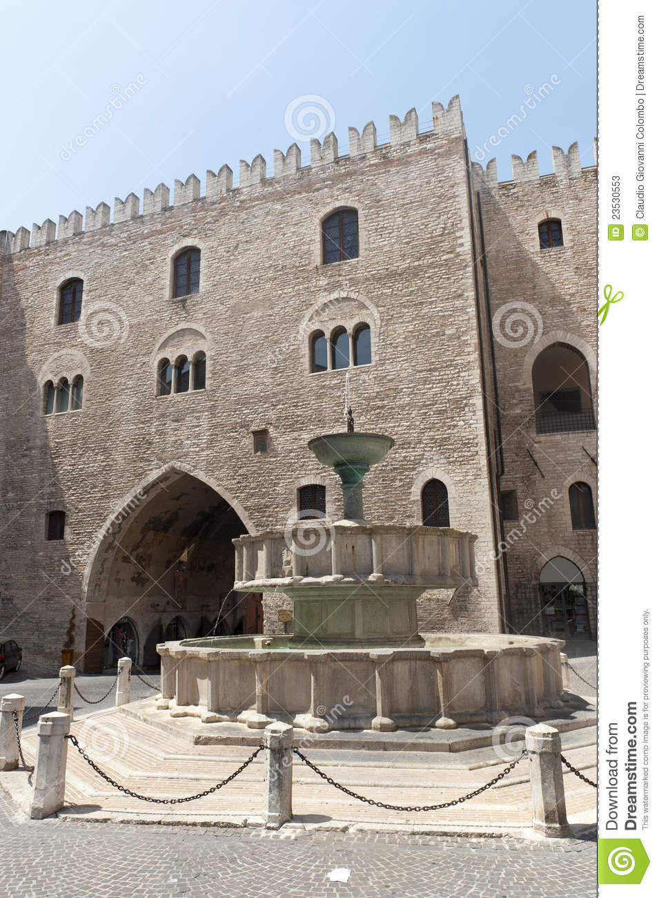 Fabriano Italy  City pictures : Fabriano Ancona, Marches, Italy , the main square with monumental ...