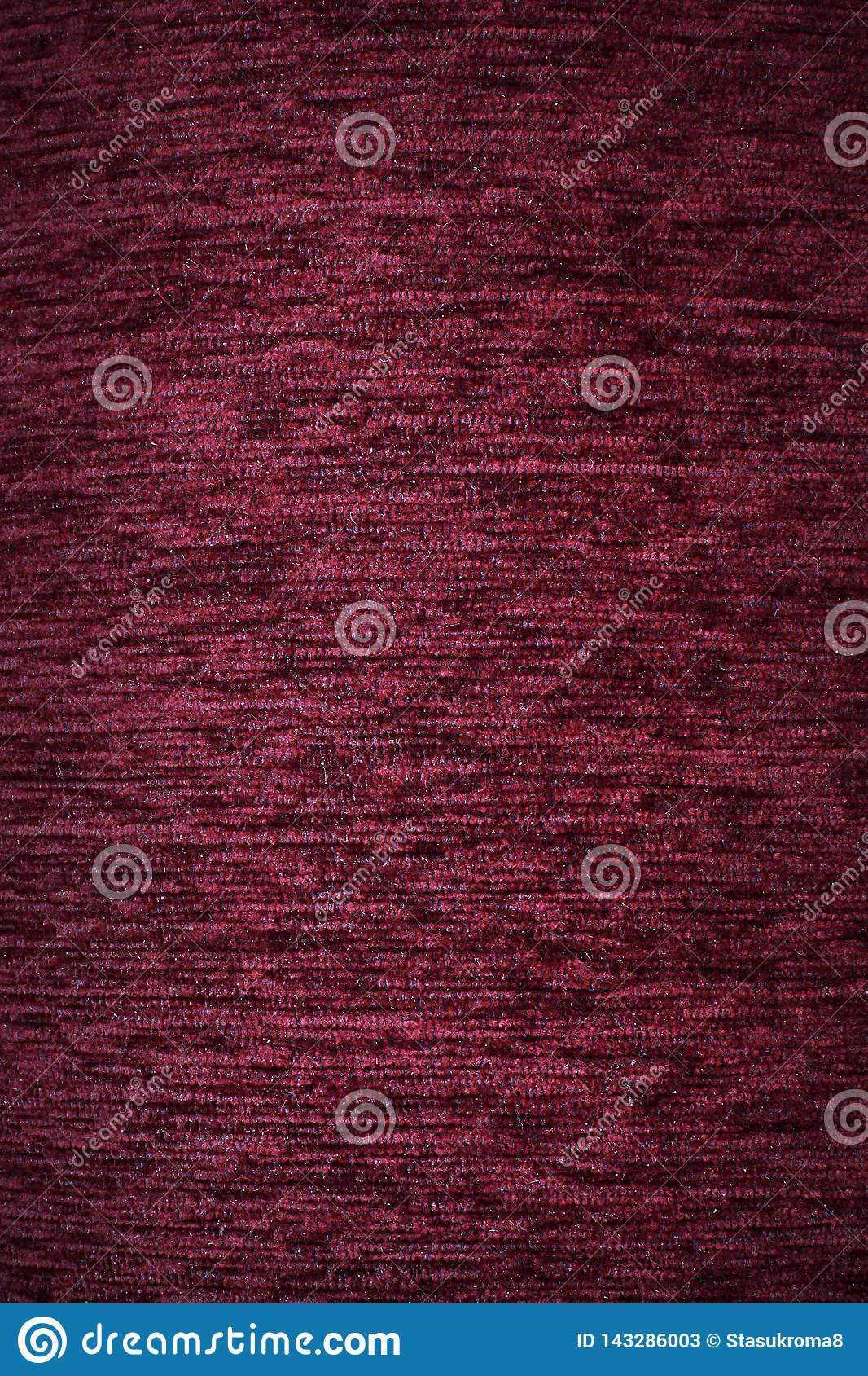Fabric background. Top View of Cloth Textile Surface. Red thread