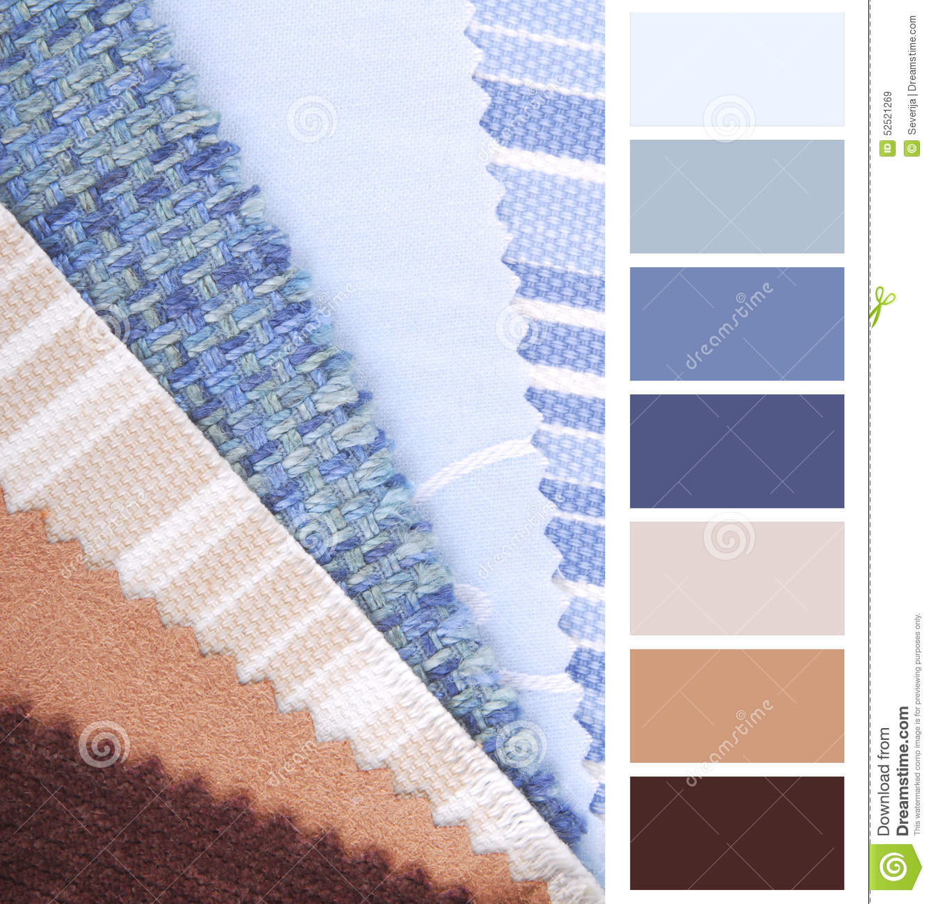 Fabric Color Chart Stock Image Image Of Fashion House 52521269