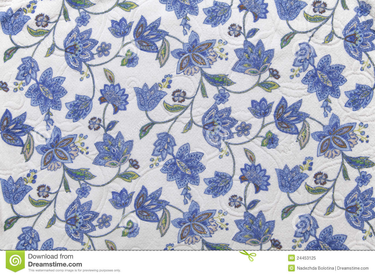 Fabric Flower Pattern Custom Decorating Design
