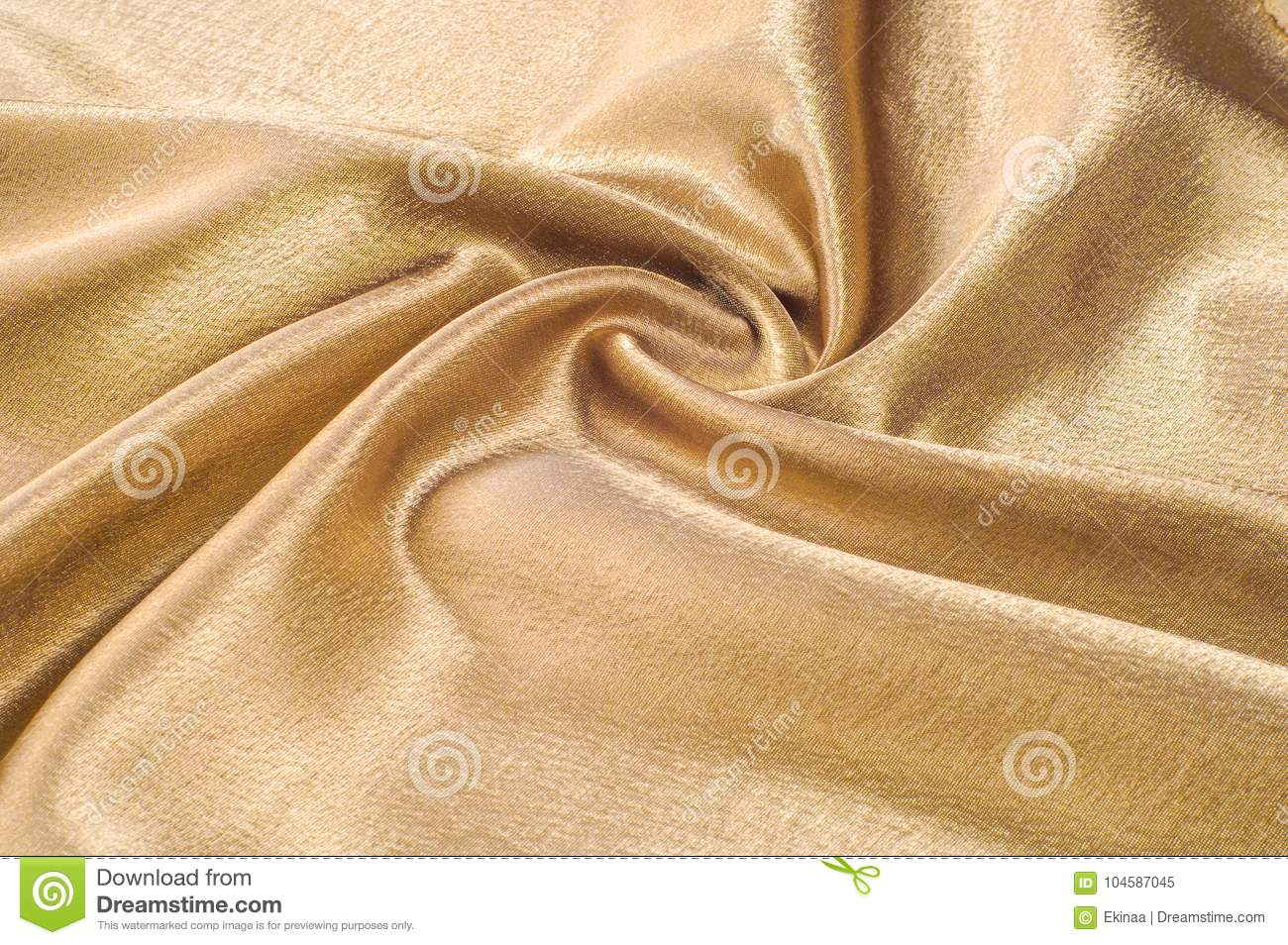 Fabric made of silk fabric metal thread metallic sheen gold. Just like looking at a stunning waterfall, this golden yellow Silk C