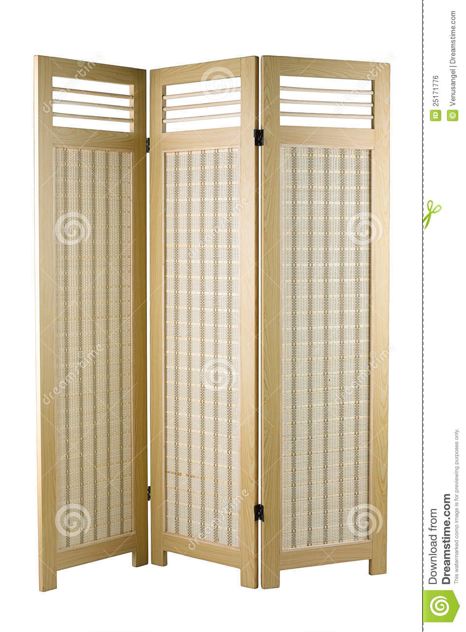Fabric Partition With Wooden Frame Stock Photo Image
