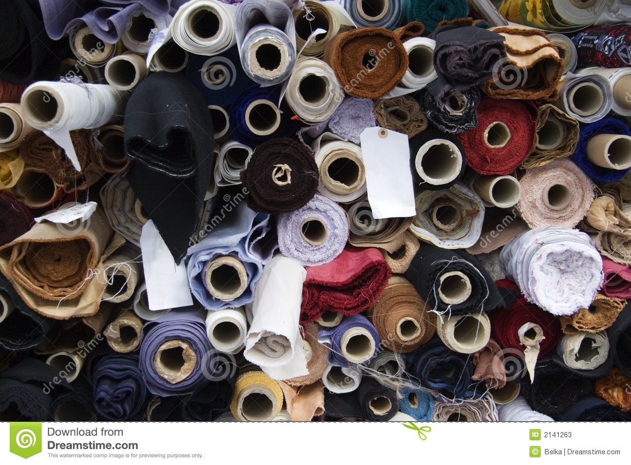 Fabric Rolls Stock Image Image Of Store Woven Circles
