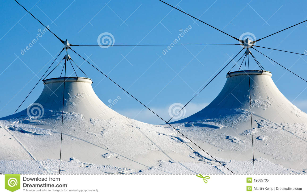 Fabric Roof Tension Structure Stock Image Image Of