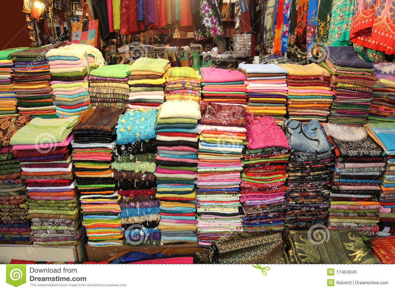 Fabric for sale at market royalty free stock photo image for Fabric material for sale