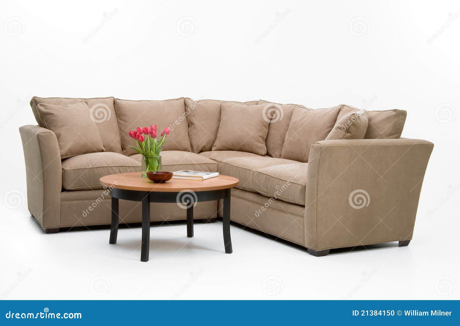 Fabric Sofa Set Table Stock Photo Image 21384150