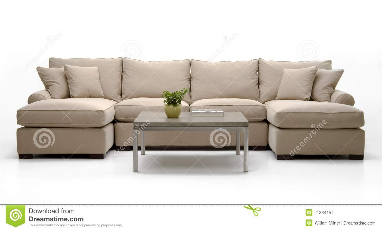 Fabric Sofa Set amp; Table Stock Images  Image: 21384154