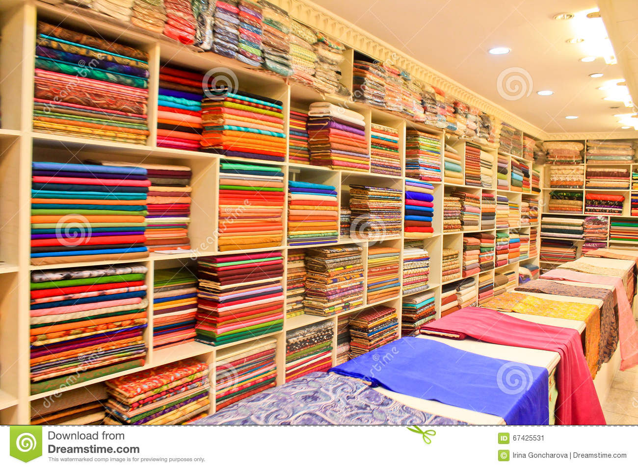 The fabric store stock image  Image of canvas, india - 67425531