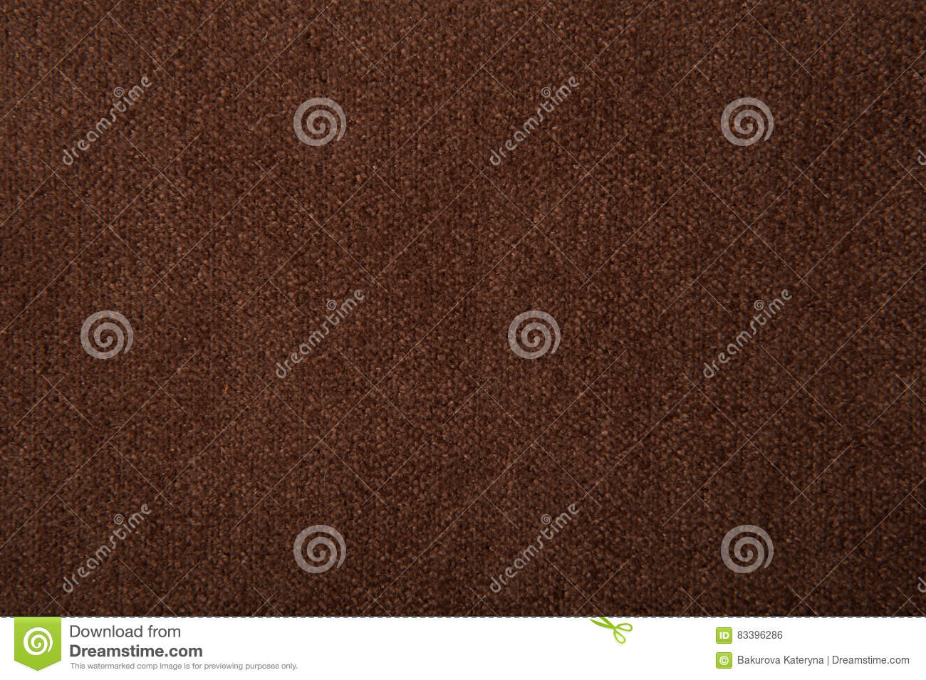 Fabric texture brown carpeting