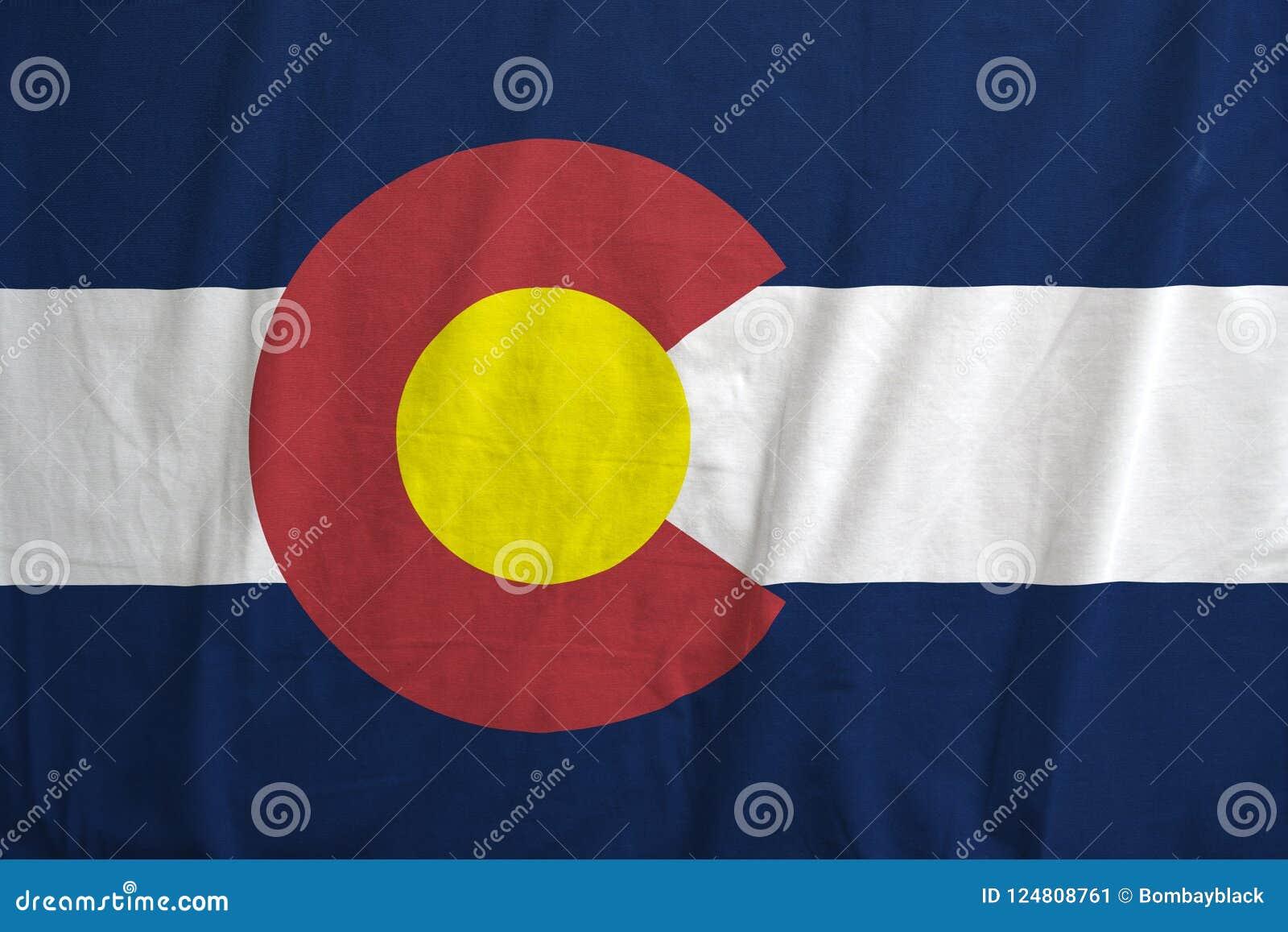 Flag of Colorado, USA waving.