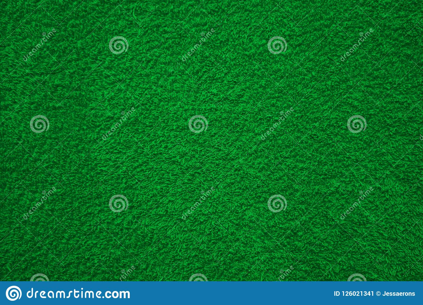 Fabric texture green carpeting